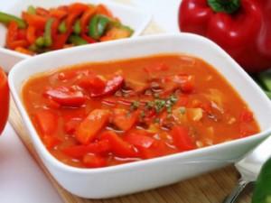 лечо из болгарского перца с помидорами на зиму