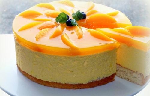 бисквитный трехслойный торт суфле
