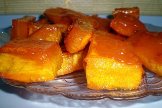 тыква запеченная в духовке с сахаром или медом