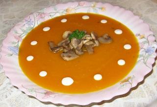 рецепт супа пюре из тыквы с грибами