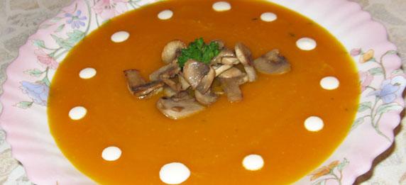 суп пюре из тыквы готов