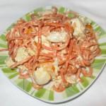 рецепт салата из курицы с морковью по корейски