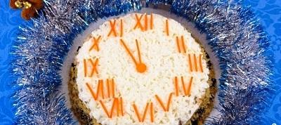 рецепт новогоднего салата -куранты
