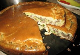 рецепт мясного пирога с капустой