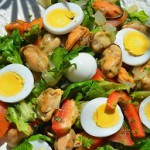 рецепт средиземноморского салата с мидиями