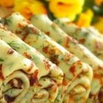 рецепт сырных блинчиков с зеленью